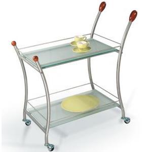 Сервировочный столик Поло, металлик