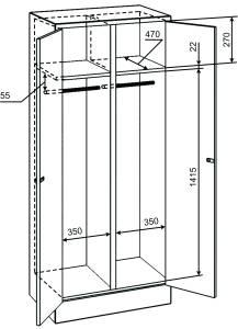 Шкаф для одежды ШРМ 22 У/800