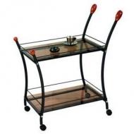 Сервировочный столик Поло, черный