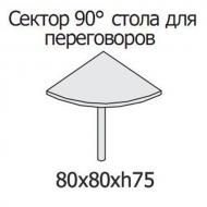 Сектор 90° стола для переговоров