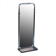 Зеркало настенное, с полкой, хром