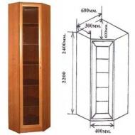 Шкаф угловой Версаль-2, прозрачное стекло