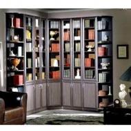 Шкаф книжный Версаль-2, прозрачное стекло